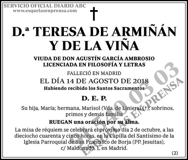 Teresa de Armiñán y de la Viña